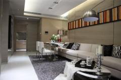 紫荆城三室客厅效果