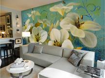 梦幻花卉背景墙