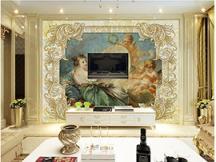 欧式典雅背景墙