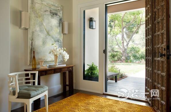 进门玄关壁画摆放效果图